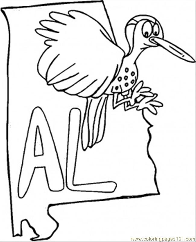 alabama map coloring page  free usa coloring pages