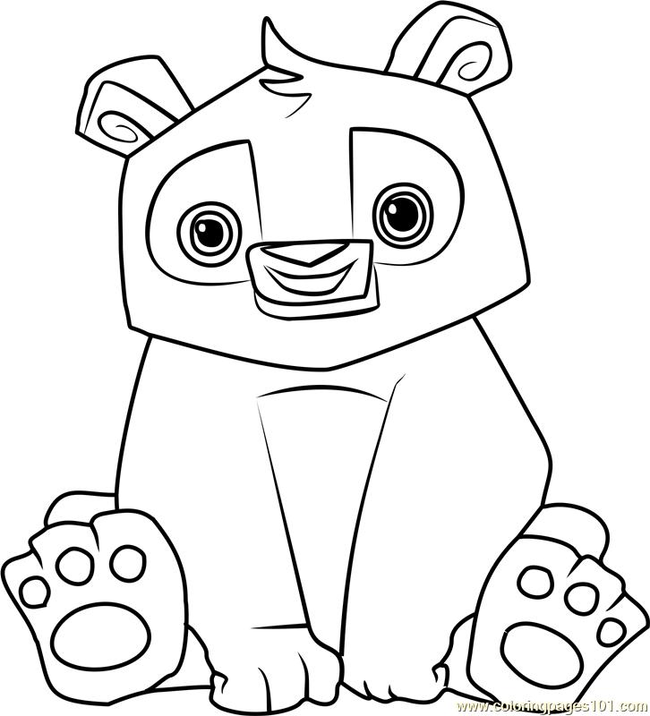 Panda Animal Jam Coloring Page Free Animal Jam Coloring