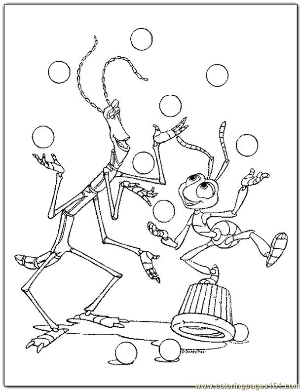 coloring page 001 bugs life 2 cartoons gt a bugs life coloring pages