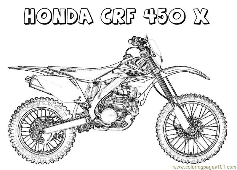 honda crf 800 x 575 90 kb jpeg credited to coloringpages101 com