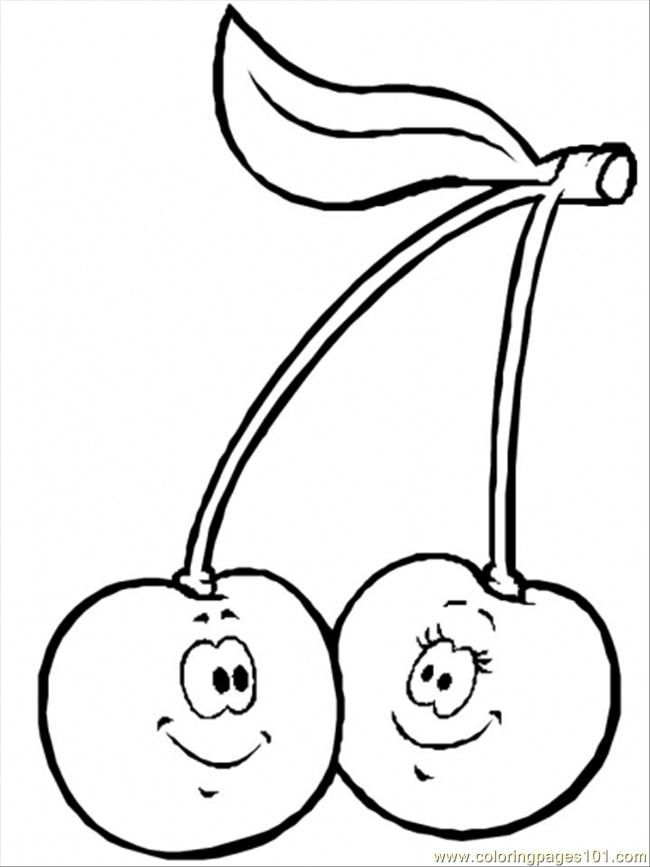 cherry coloring pages free printable coloring page