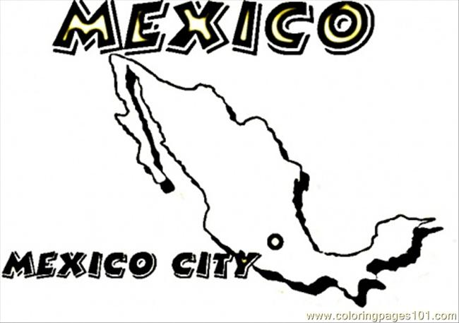 map of mexico colouring pages