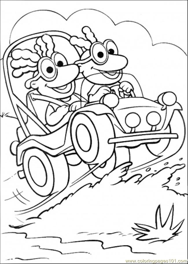 coloring pages they ride their car (cartoons > muppet