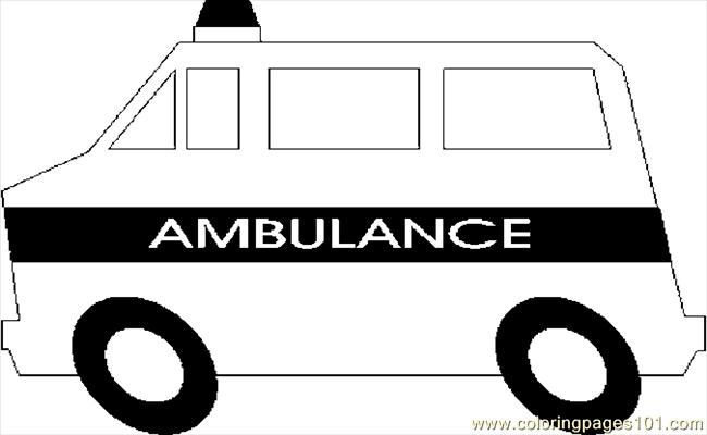 ambulance coloring pages printable black white clip auto racing