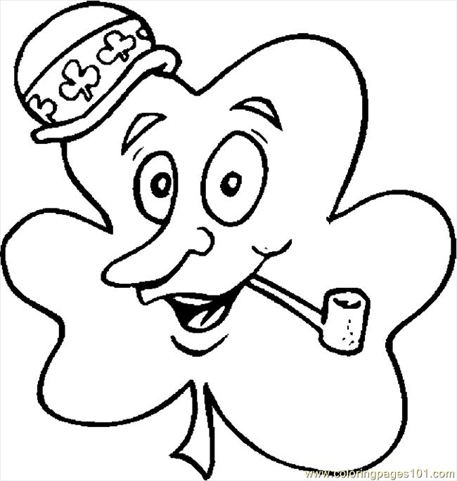 shamrock coloring pages shamrock with pipe