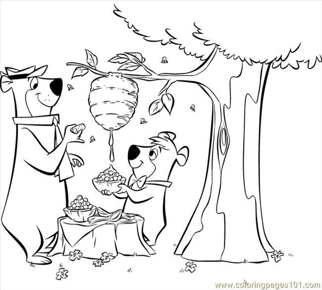 coloring pages yogi bear 5 (cartoons > yogi bear)  free