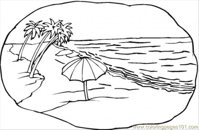 beach scene coloring page free seas and oceans coloring pages