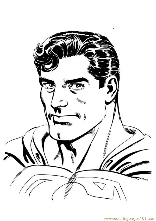 Superman 003 Coloring Page Free Superman Coloring Pages