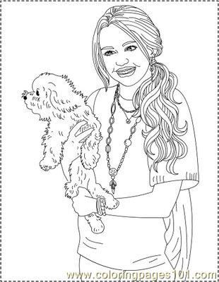 hannah montana coloring pages # 79