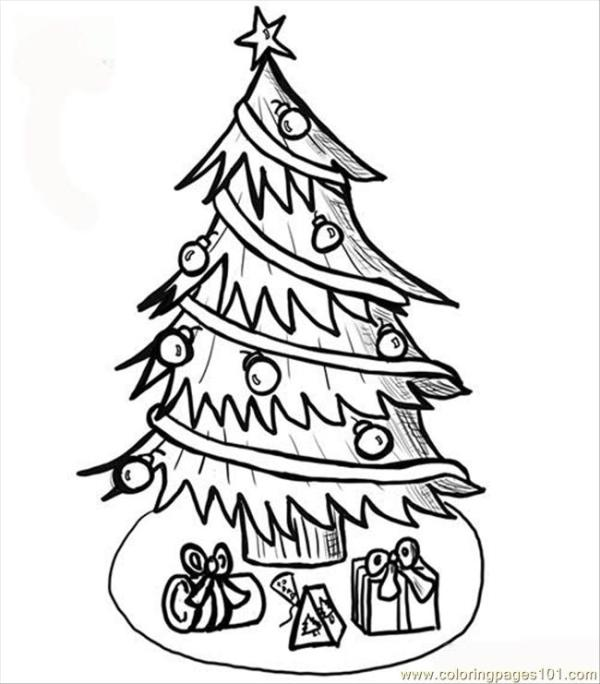 christmas trees coloring pages # 57