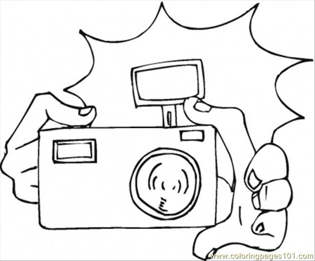 camera coloring page  free home appliances coloring pages