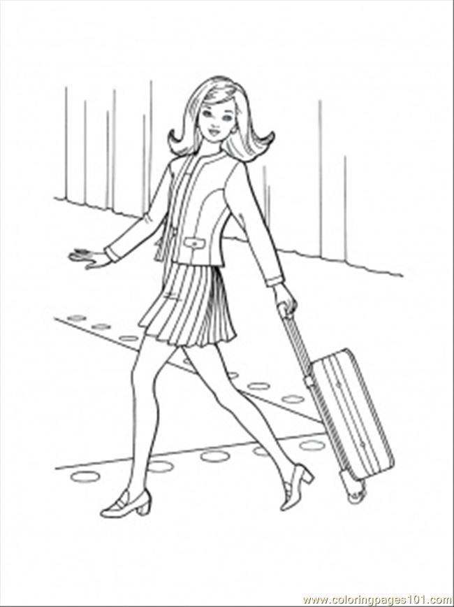 Bon Voyage Coloring Page Free Accessories Coloring Pages