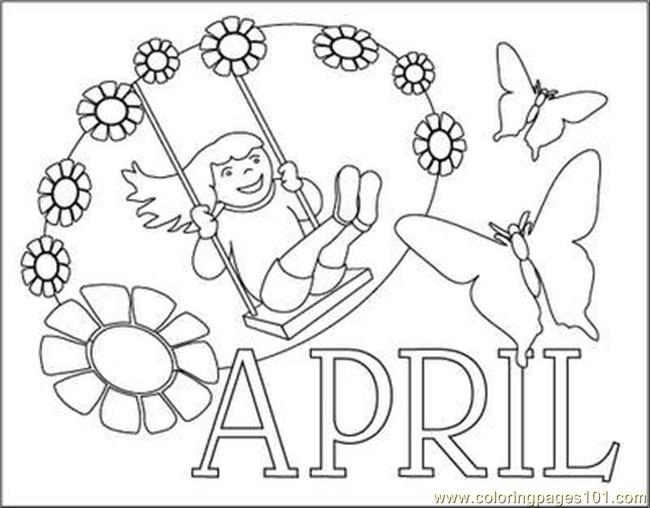 april coloring pages page free holidays - April Coloring Pages