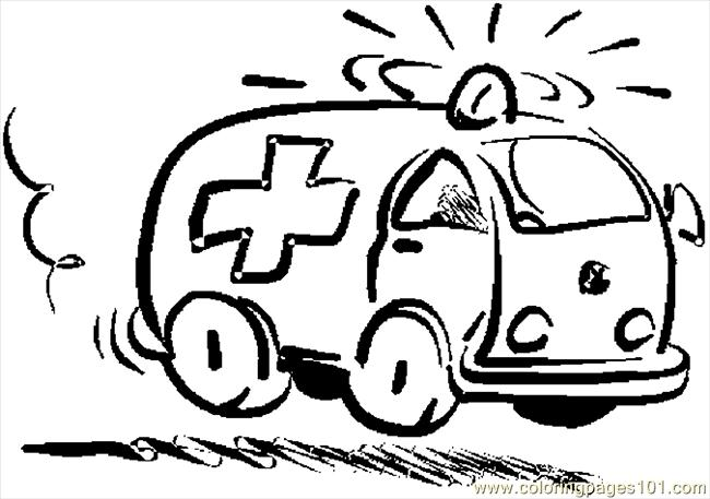 ambulance 01 coloring page free special transport coloring pages