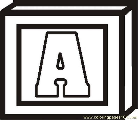 Blockletterabw Coloring Page Free Alphabets Coloring