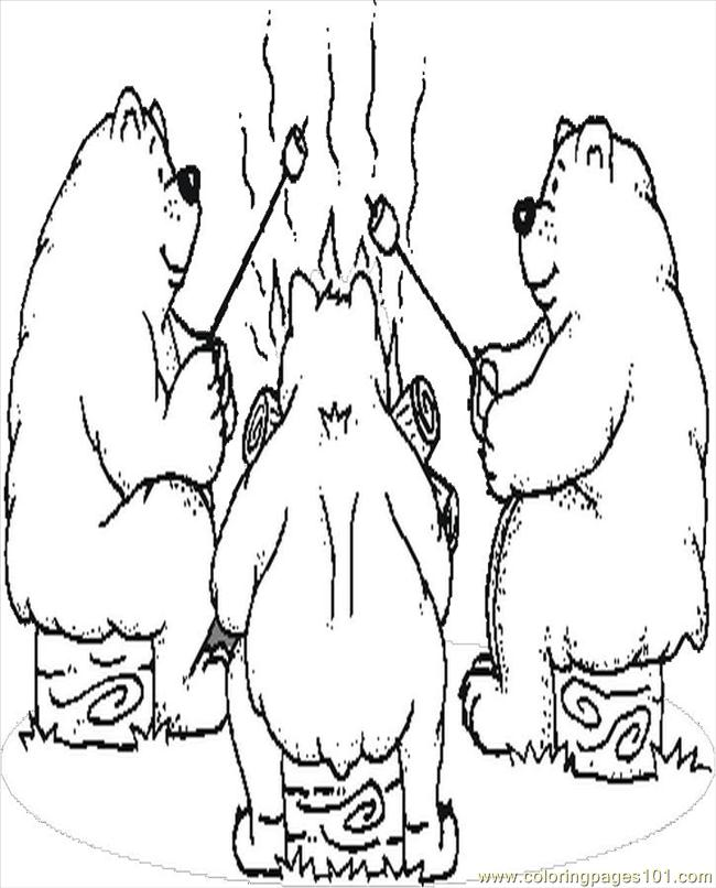 bears camping coloring page free others coloring pages