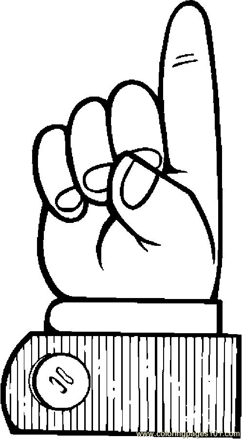 Finger Pointing 137 Coloring Page Free Body Coloring
