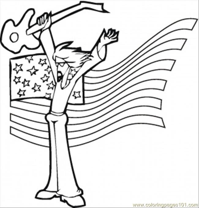 rock star coloring page free instruments coloring pages
