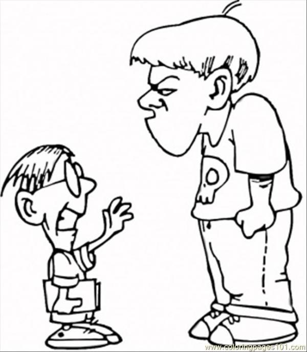 bullying coloring pages # 63