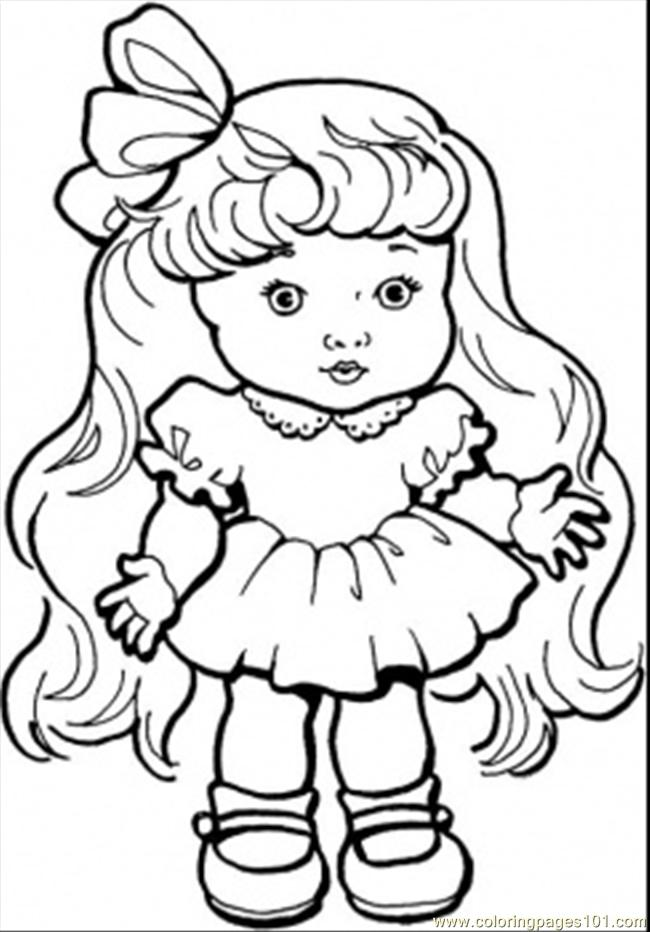 baby girl  long hair coloring page  free gender