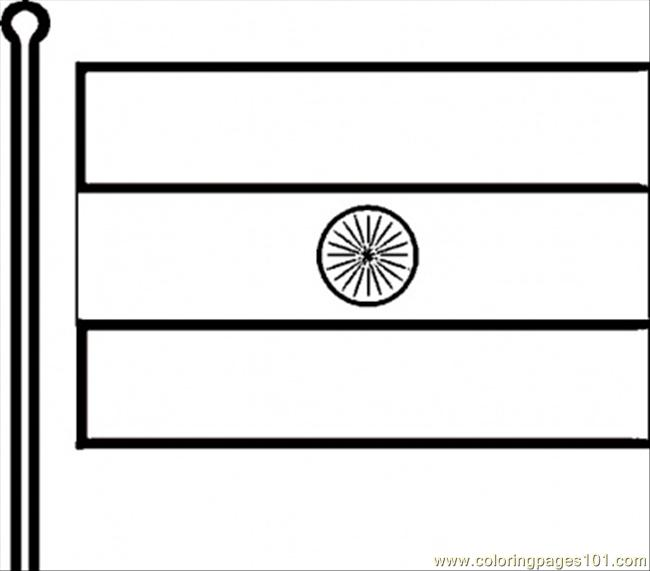 indian flag coloring page free india coloring pages