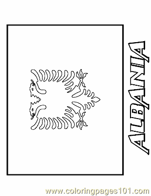 Albania Coloring Page Free Flags Coloring Pages