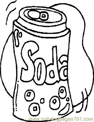 Sodacan Coloring Page Free General Foods Coloring Pages