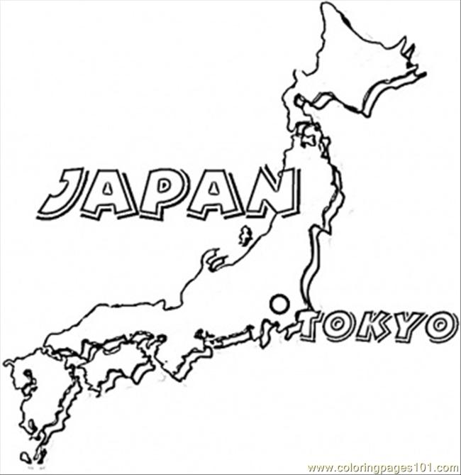 map of japan coloring page free japan coloring pages