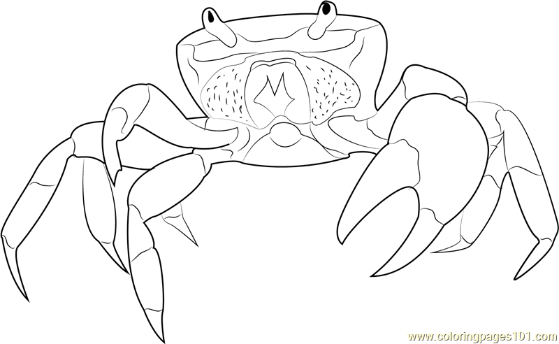 Halloween Crab Coloring Page Free Crab Coloring Pages
