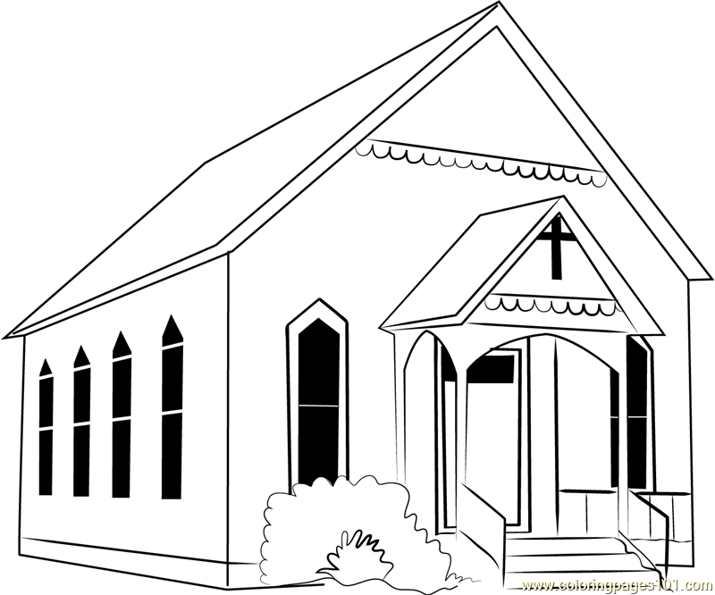 Watauga Presbyterian Church Coloring Page Free Church Coloring Pages Coloringpages101 Com