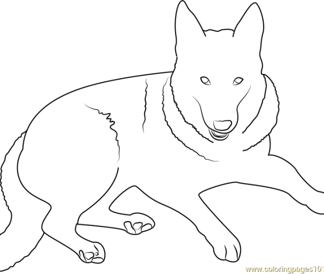 German Shepherd Dog Coloring Page Free Dog Coloring Pages