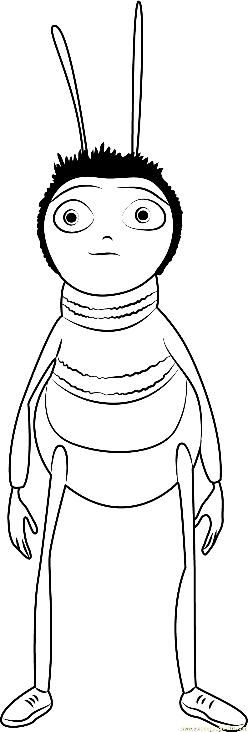 Bee Standing Coloring Page Free Bee Movie Coloring Pages