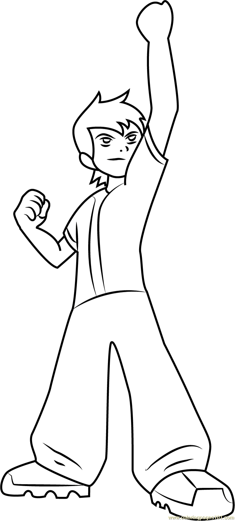 Ben 10 See Up Coloring Page Free Ben 10 Coloring Pages