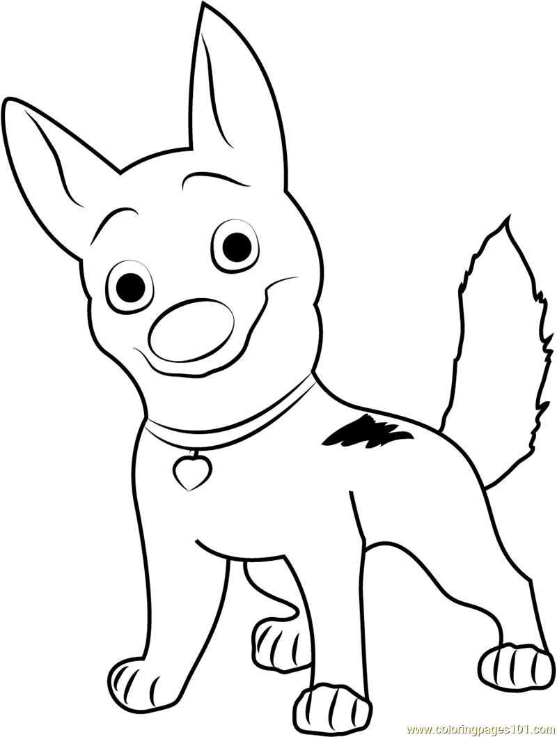 happy bolt coloring page free bolt coloring pages
