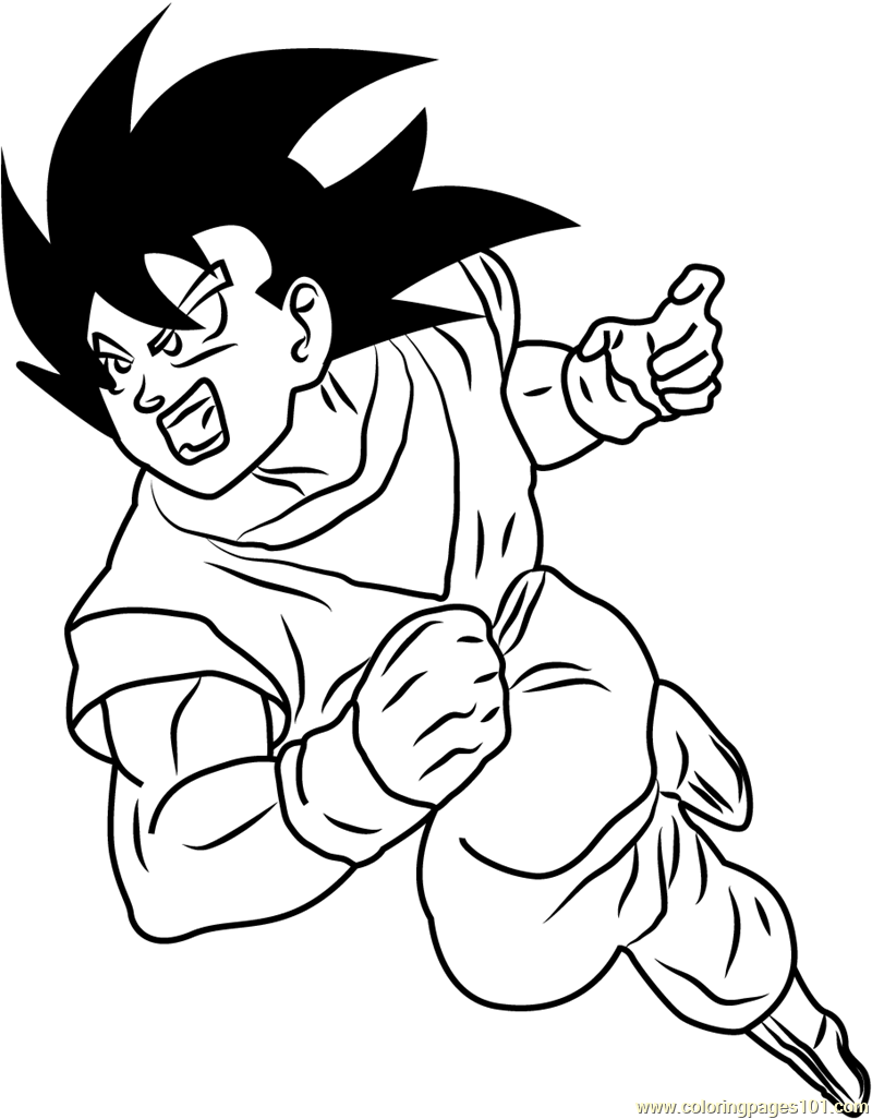 Dragon Ball Z Coloring Page Free Dragon Ball Z Coloring Pages