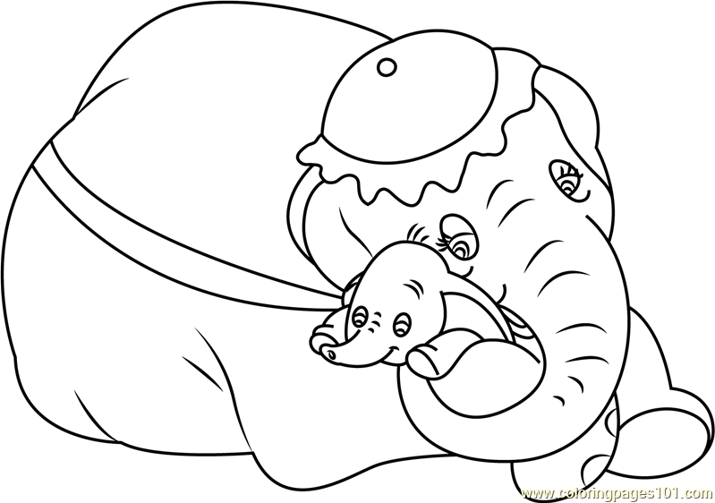 mom and baby dumbo coloring page free dumbo coloring pages