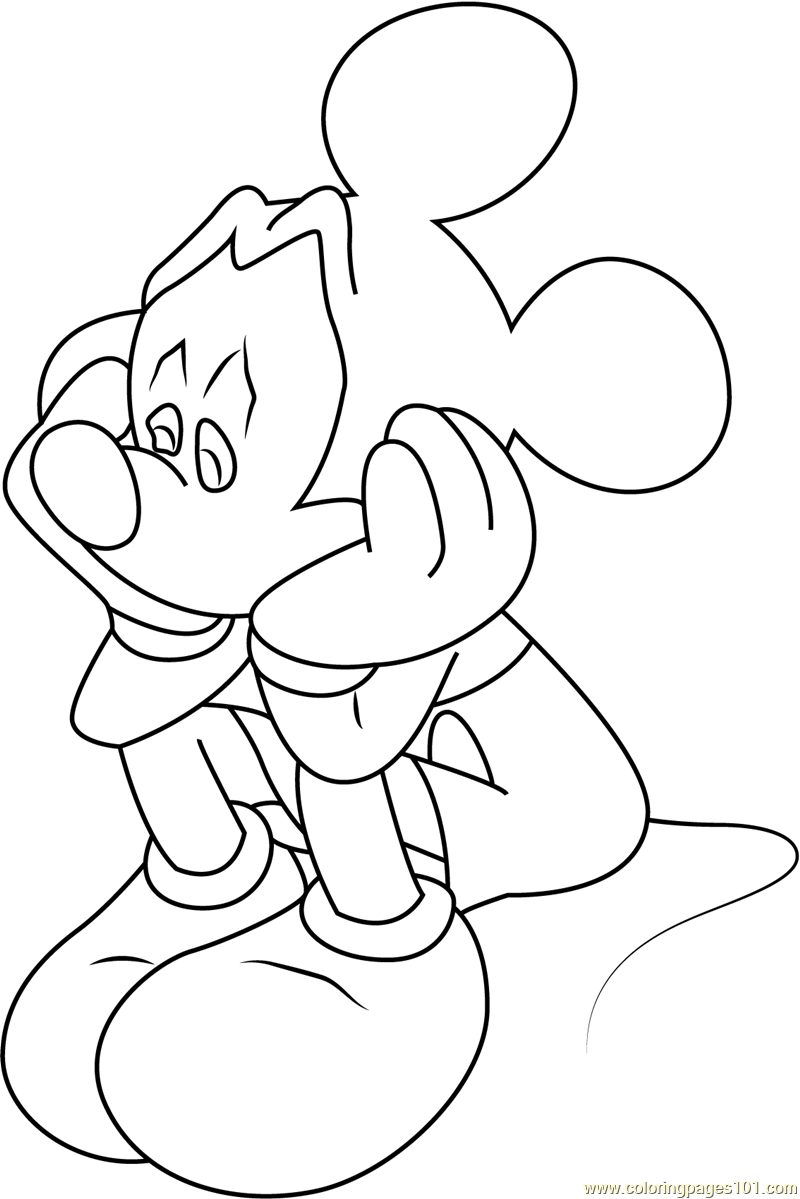 Sad Mickey Mouse Coloring Page Free Mickey Mouse Coloring Pages