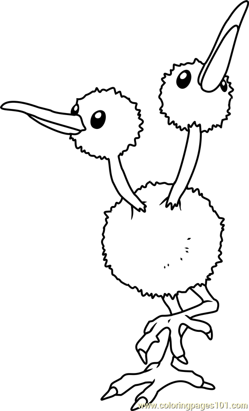 Doduo Pokemon Coloring Page Free Pokmon Coloring Pages