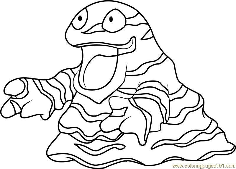 Grimer Pokemon Coloring Page Free Pokmon Coloring Pages