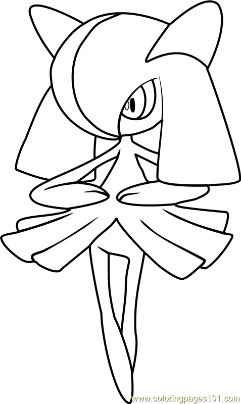 Kirlia Pokemon Coloring Page Free Pokmon Coloring Pages