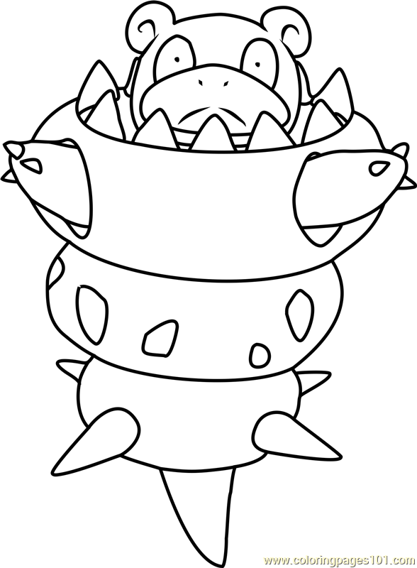Mega Slowbro Pokemon Coloring Page Free Pokemon Coloring Pages Coloringpages101 Com