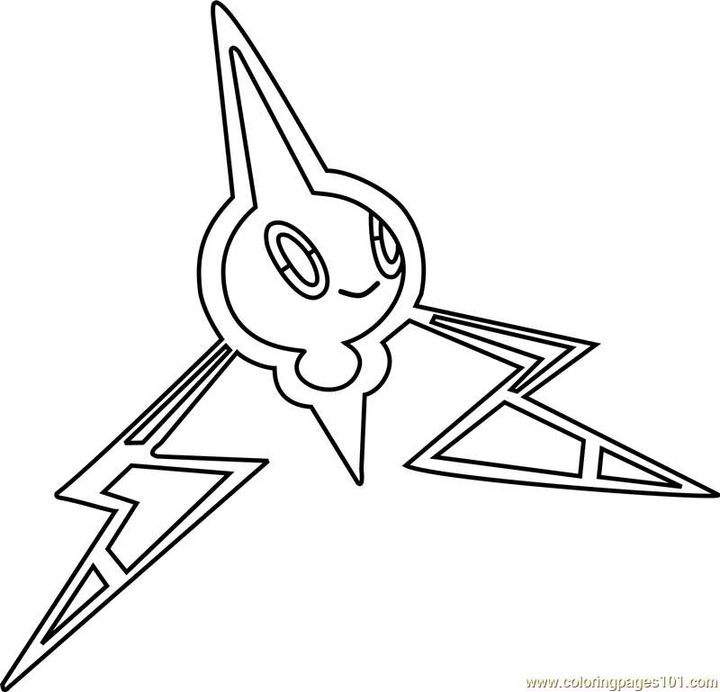 Rotom Pokemon Coloring Page Free Pokmon Coloring Pages