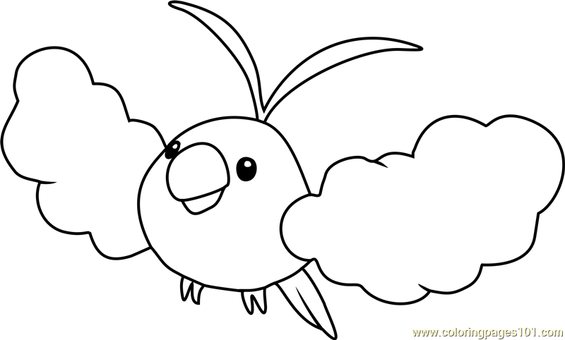Swablu Pokemon Coloring Page Free Pokmon Coloring Pages