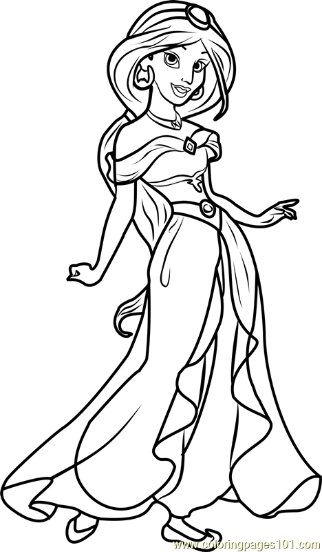 disney jasmine coloring pages. Princess Jasmine Coloring Page Free Disney Princesses jasmine princess coloring pages  for kids
