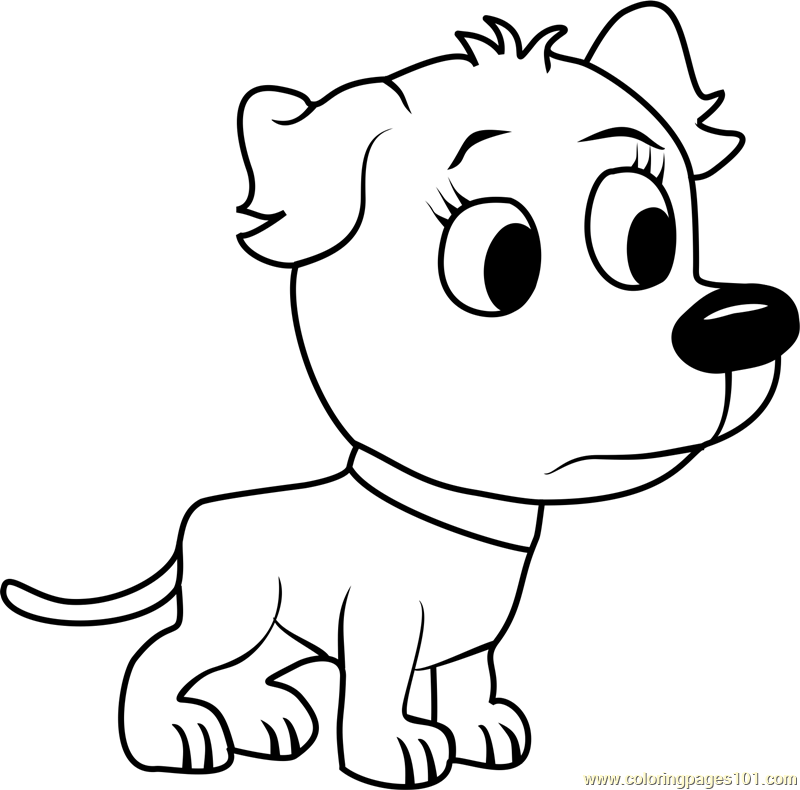 Pound Puppies Tip Tip Coloring Page Free Pound Puppies