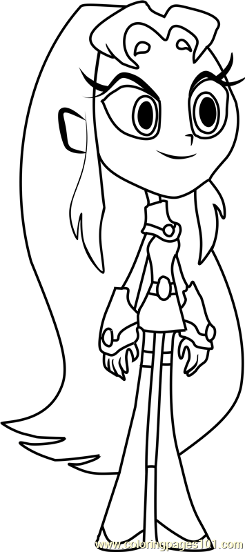 Starfire Coloring Page Free Teen Titans Go Coloring Pages Coloringpages101 Com