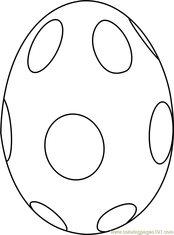 Easter Egg With Circles Coloring Page Free Easter