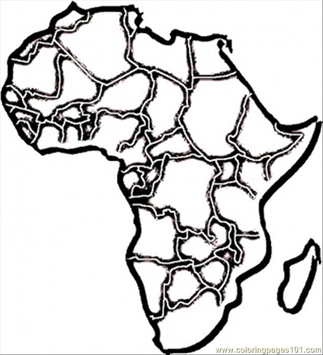 african map coloring page free africa coloring pages