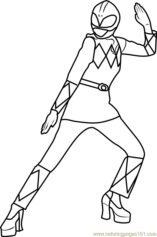 Power Ranger Pink Coloring Page Free Power Rangers