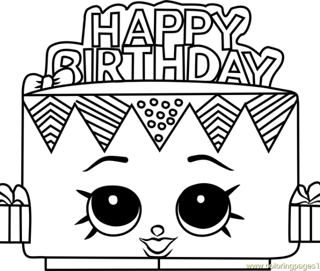 Birthday Betty Shopkins Coloring Page Free Shopkins Coloring